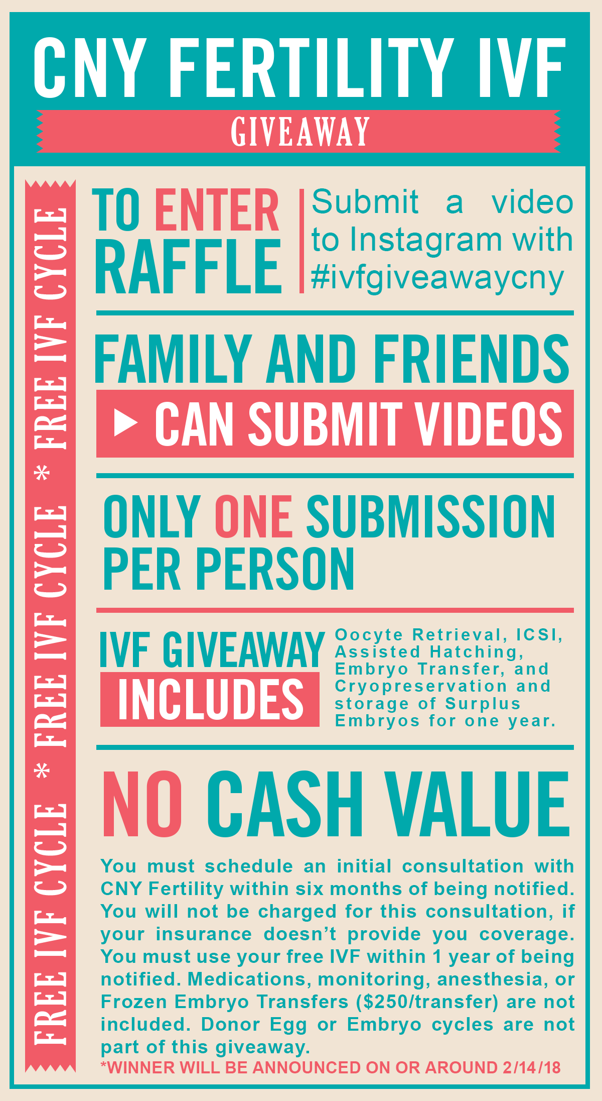 Win a Free IVF Cycle: Instagram IVF Giveaway February 2018