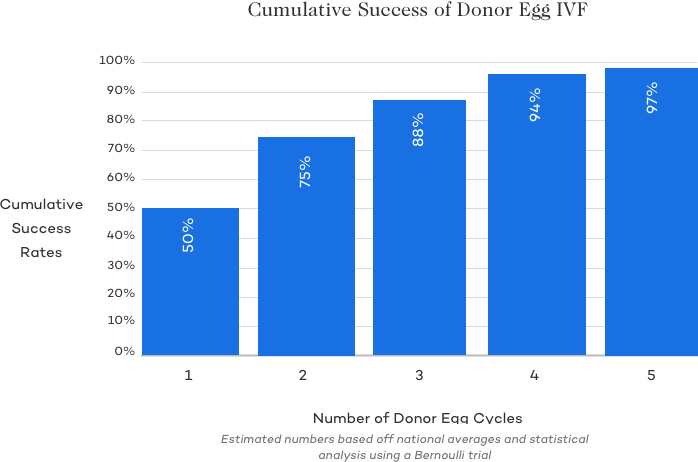 Cumulative Success of Donor Egg IVF