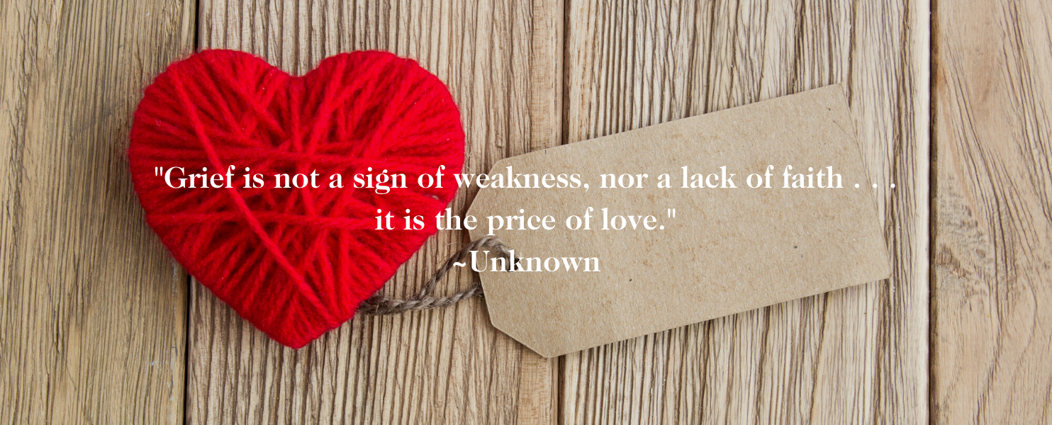 Grief is a price of love quote for healing from miscarriage